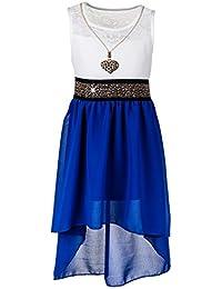 Mädchen Sommer Kleid in 13 Farben mit Kette
