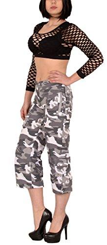 Femmes Pantalon Capri Femmes Shorts Bermuda Femmes Shorts Cargo Femmes Shorts Militaire H149 H149-gris