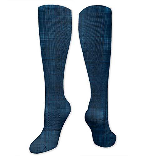Sashiko-designs (Colin-Design Sashiko Uni Faux Indigo Unisex Socken Kniestrümpfe Sport Athletic Crew Socken Einheitsgröße)