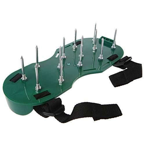 EYLIFE Rasenbelüfter-Schuhe mit Metallschnallen und 4 Riemen, Hochleistungs-Spikesandalen, Universalgröße für alle - für einen umweltfreundlicheren und gesünderen Hof - Dethatcher