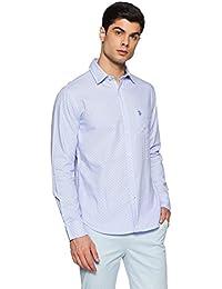 US Polo Men's Printed Regular Fit Casual Shirt