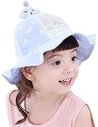 Cappelli Alla Pescatora Bambine Bucket Hat Bambina a Rete Cappellino Mesh  Cotone Traspirante Berretti da Sole c96255c8acde