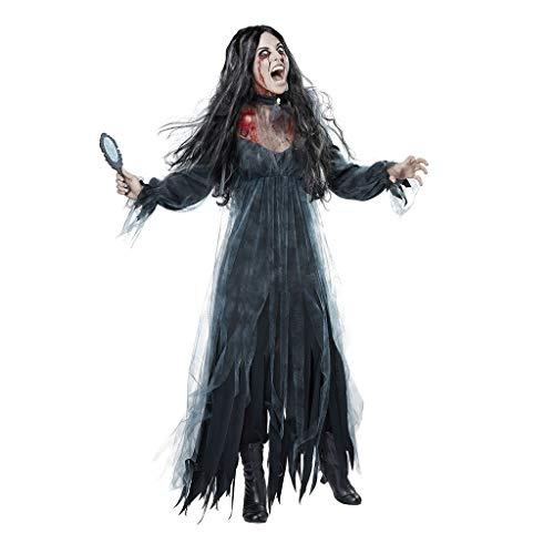 GJKK Kostüme für Erwachsene Halloween Kostüm Horror Ghost Brautkleider Devil Vampir Maxikleider Halloween Cosplay Kleid Asymmetrisches Langes Kleid - Asymmetrische Brautkleid