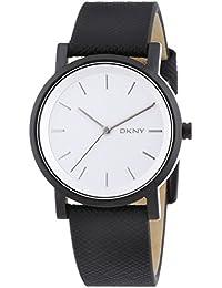 DKNY  NY2186 - Reloj de cuarzo para mujer, con correa de piel de borrego, color negro