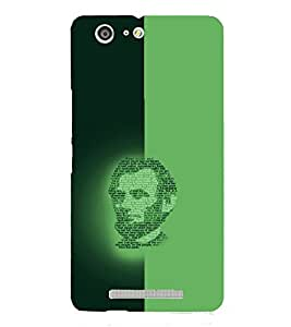 PrintVisa Modern Art Lincoln Face 3D Hard Polycarbonate Designer Back Case Cover for Gionee Marathon M5