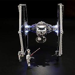 LIGHTAILING Jeu De Lumières pour (Star Wars TIE Fighter Impérial) Modèle en Blocs De Construction - Kit De Lumière A LED Compatible avec Lego 75211(Ne Figurant Pas sur Le Modèle)