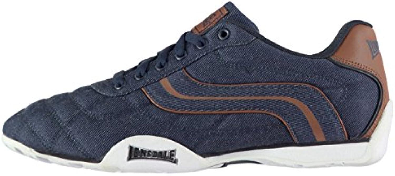 Official Trainers Lonsdale Camden Denim Herren Turnschuhe  Blau  Sport Schuhe Sneaker Schuhe