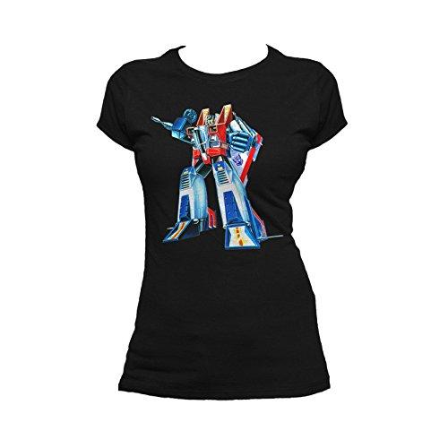 g1 urban Transformers Starscream G1 Official Women's T-Shirt (Black) (X-Large)