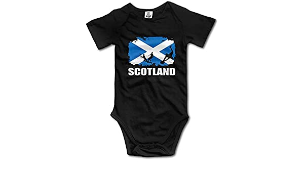 WlQshop Tute da Bambino,Body Bimbo Bimba Scotland Flag Football Rugby Newborn Baby Boys Clothing Short Sleeve Baby Girls Bodysuit