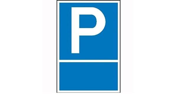Kunststoff zur Selbstbeschriftung 25x40 cm Parkplatzschild Symbol: P