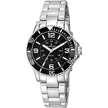 Radiant RA232202 - Reloj con correa de caucho para mujer, color negro / gris
