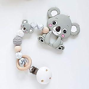 """Beißkette """"Koala in Mamor und Grau"""" Zahnungshilfe für Babys"""