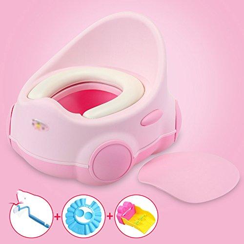 Toilettes pour enfants Baby Kids Potty Pot Toilette Siège de Toilette Formation Sécurité 1er Rapide Et Terminé Vert, Rose (Couleur : Pink)