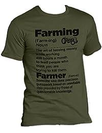 The Dragons Den Olive Green Description Young Farmer T-Shirt Farming Defined Noun TShirt
