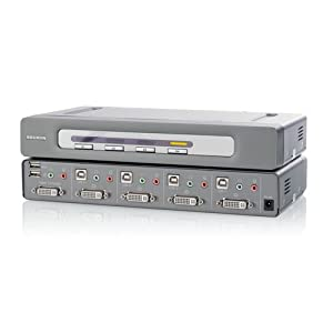 Belkin F1DN104Dea Secure 4 Port DVI-I KVM Cable with Audio, PP1.2 and EAL4 Evaluation Assurance