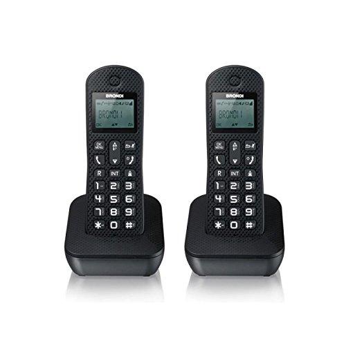 Brondi Mariot Twin Telefono Cordless, Nero