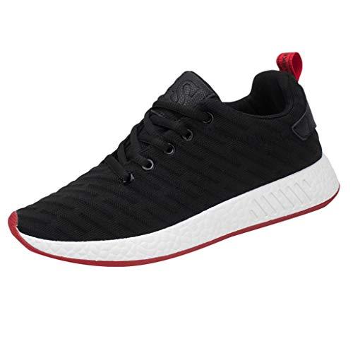 Scarpe da Ginnastica Casual Athletic Comode Scarpe da Corsa Scarpe da Tennis Leggere Walking Workout Outdoor Casual Fashion Mesh Uomo (44 EU,Nero)