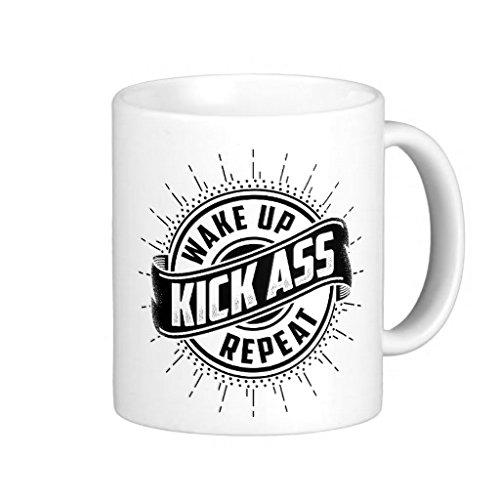 Kaffeebecher, Motiv Morning Motivation mit weißem Kaffee, 325 ml