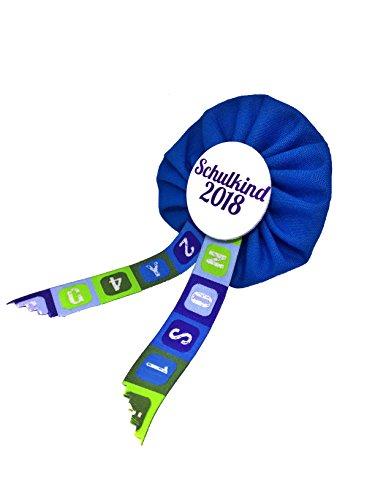 AnneSvea Orden Schulkind 2018 blau Einschulung Schultüte Zuckertüte Deko Geschenk Mitbringsel (Dekoration-medaille)
