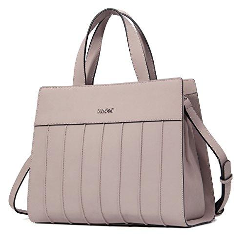 Kadell Frauen stilvolle Designer Handtaschen für Damen Matte PU Leder Große Schultertasche (Billig Handtaschen Designer)