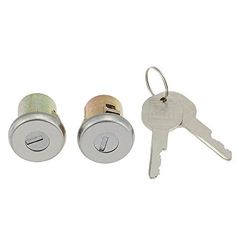 KKmoon Ein Paar Tür schloss Zylinder-Set mit 2 Schlüsseln für Chevrolet GMC Buick Cadillac Oldsmobile Pontiac
