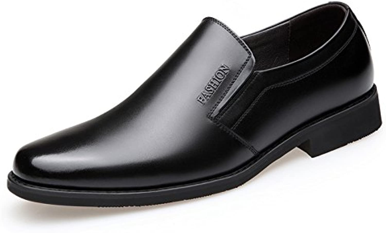 NBWE Herren Leder Classic Business Kleid Schuhe Atmungsaktiv Schuh Einzelne Schuhe