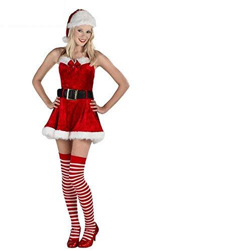Santa Mädchen Kostüm Claus - IG Santa Claus Kostüm Weihnachten Mädchen Kostüm Weihnachten Rock Weihnachten Kleidung Weihnachten Kostüm-Set,Erwachsene,XL