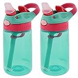 Contigo Kids Autospout Gizmo Wasser Flaschen, 414ml (Persisch Grün)–2Pack