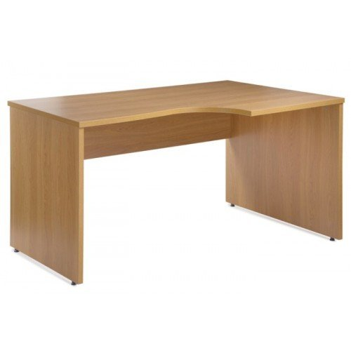 Elland Right Hand Ergonomic Corner Desk (Beech)