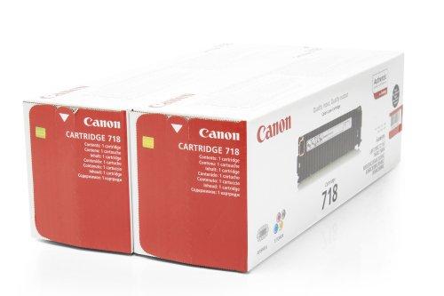 Preisvergleich Produktbild 1x Original Canon Toner Doppelpack 2662B005 CRG 718 CRG718 für Canon I Sensys MF 729 CX - Black -