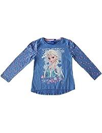 Disney - T-shirt mangas largas Frozen El reino del hielo - 4 ANS, Bleu