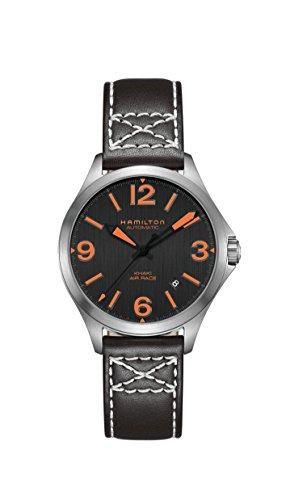 Hamilton Reloj de hombre automático 38mm correa de cuero color negro H76235731