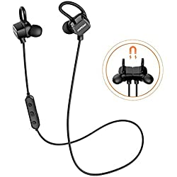 [Versión Actualizada]Auriculares Bluetooth Magnéticos, Mpow S3 IPX7 Auriculares Bluetooth Deportivos Efecto Estéreo con Cancelación de Ruido CVC 6.0 Manos Libres iPhone8 7 Plus 6S Samsung Huawei Sony