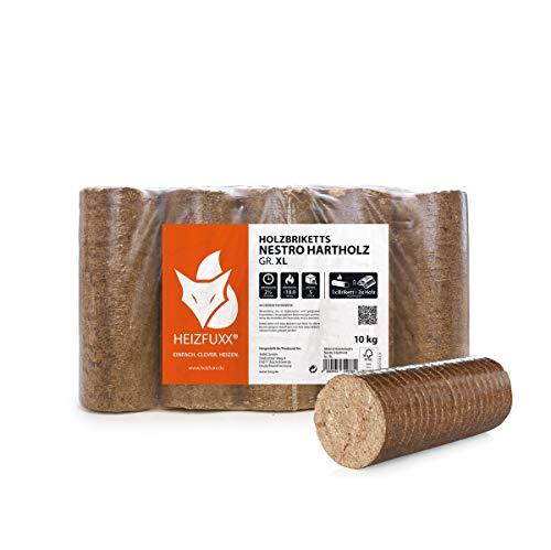 PALIGO Holzbriketts Nestro Hartholz Eiche Kamin Ofen Brenn Holz Heiz Brikett 10kg x 3 Gebinde 30kg / 1 Karton Heizfuxx