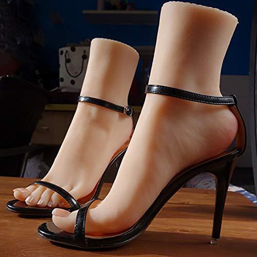 Piedi Femminili Manichino Esposizione Utilizzato per L'esposizione del Negozio di Sandali Calze E Esercizi di Massaggio del Piede per Disegnare L'Arte (Lunghezza del Piede 20,5 Cm),rightfoot