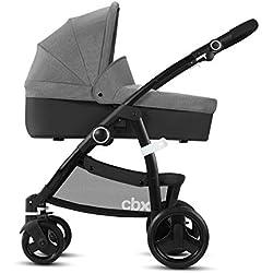 CBX 518001659 Leotie Pure - Cochecito 2 en 1 con capazo y 4 suspensiones, color gris
