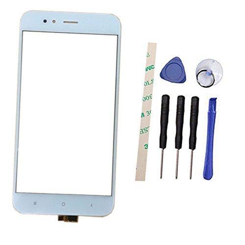General Front Toque Pantalla Digitizer Vaso Reemplazo Parte Para Xiaomi Mi A1 MiA1/Mi 5X Mi5X (No Lcd Display) with Adhesive (Blanco)