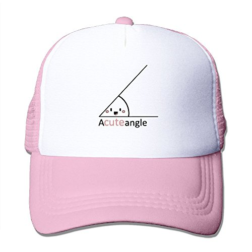 Funny Math Geometric Figure Mesh Trucker Caps/Hats Adjustable For Unisex Pink Pink (Math Baseball-cap)