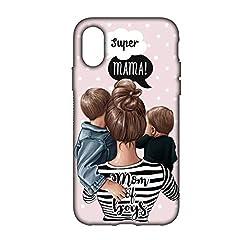 Idea Regalo - Festa della Mamma Cover Smartphone Custodia per Tutti Modelli Apple iPhone Samsung Huawei 6 Idea Regalo super migliore mamma al mondo speciale queen king mother day regalo divertente