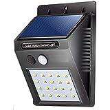 Zurato 20 LED Bright Waterproof Solar Wireless Security Motion Sensor Night Light/Outdoor Security Lights with Motion Sensor Night Lighting Solar Light (Black, 9.7 x 4.8 x 12.4 cm)