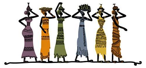Wandtattoo Frauen in bunten Farben Wandsticker Deko Figuren Silhouette