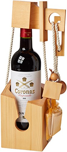 Vintage-Marque-Wooden-Wine-Puzzle-with-Bottle-of-Torres-Coronas-75-cl