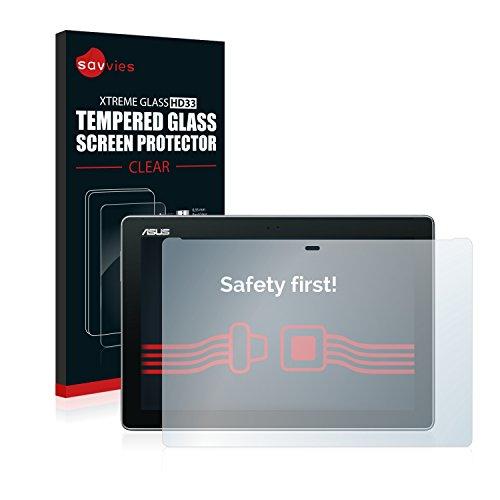 pellicola tablet asus zenpad 10 Savvies Vetro Temperato Compatibile con ASUS ZenPad 10 Z300CL Pellicola Protettiva - Durezza 9H