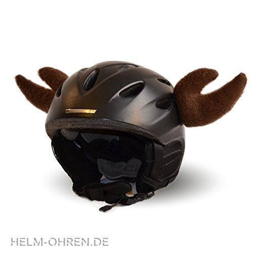 Braun Elch (Helm-Ohren Tierohren für den Skihelm, Snowboardhelm, Kinder-helm, Kinder-Skihelm oder Motorradhelm - verwandelt den Helm in ein EINZELSTÜCK - der HINGUCKER - für Kinder und Erwachsene HELMDEKO (Elch Braun))