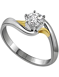 SURATDIAMOND 18k (750) Yellow Gold And Diamond Solitaire Ring - B01N028DVZ