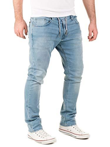 WOTEGA Herren Jeans Noah - Sweathose in Jeansoptik - Männer Jogg-Jeans Slim, Blau (Blue Shadow 3R4020), W40/L32