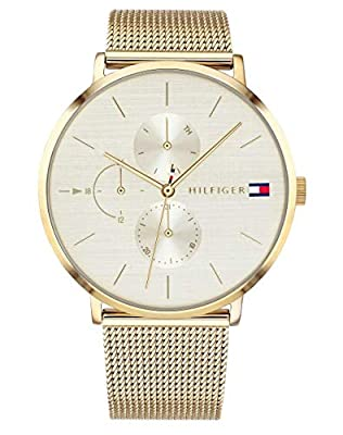Tommy Hilfiger Reloj Multiesfera para Mujer de Cuarzo con Correa en Bañada en Oro 1781943