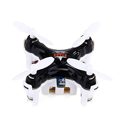 Price comparison product image Cheerson CX-STARS RC Quadcopter 2.4G 4CH 6 Axis Gyro 3D MINI Drone rc helicopter the World's Smallest and lightest Aircraft (black)