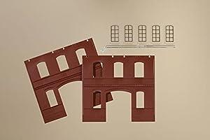 Auhagen 805232391C Rojo Paredes Ventana Industrial L Modelling Kit