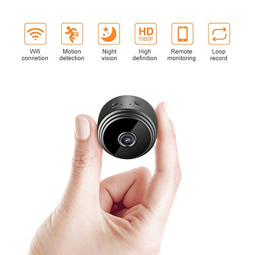 Binken Mini-Kamera, Mini Cam Kamera Wireless WiFi WLAN Sicherheit Kamera Full HD 1080P Mini WLAN Kamera Outdoor Sicherheit Kamera für app iPhone/Android Phone/iPad (Outdoor Cam Wireless)